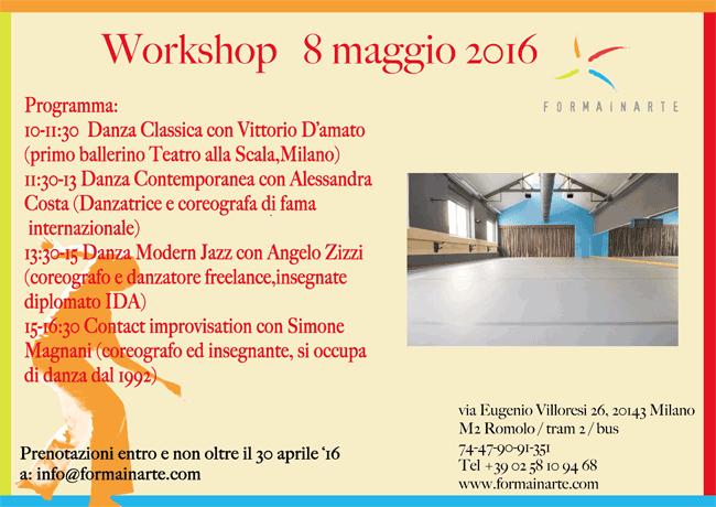 Workshop 8 Maggio 2016